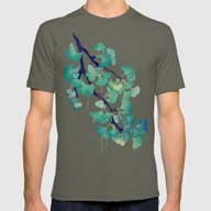 O Ginkgo (in Green) Mens Fitted Tee Lieutenant MEDIUM