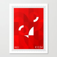 Red Stamp Canvas Print