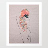 Jacs' Flowers Art Print