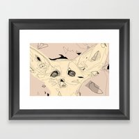 Sandfox Framed Art Print