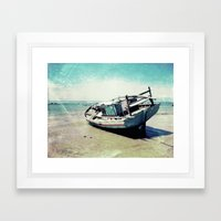 Waiting for the tide to change Framed Art Print
