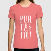 Puntastic! Womens Fitted Tee Pomegranate SMALL