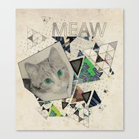 ░ MEAW ░ Canvas Print