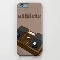 iPhone & iPod Case featuring The Athlete by grant gay