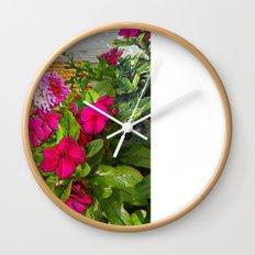 Mixed Annuals Wall Clock