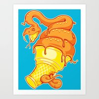 Snake Cone Art Print