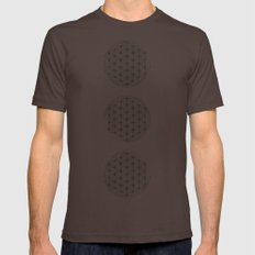 Flower of life illustration Mens Fitted Tee Brown SMALL