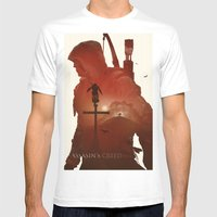 Assasins Creed 3 Mens Fitted Tee White SMALL