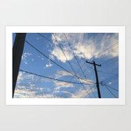 Cloud Lines Art Print