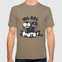 We are nuts! Mens Fitted Tee Tri-Coffee SMALL