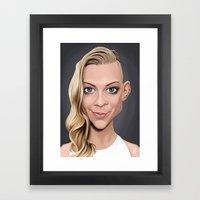 Celebrity Sunday ~ Natalie Dormer Framed Art Print