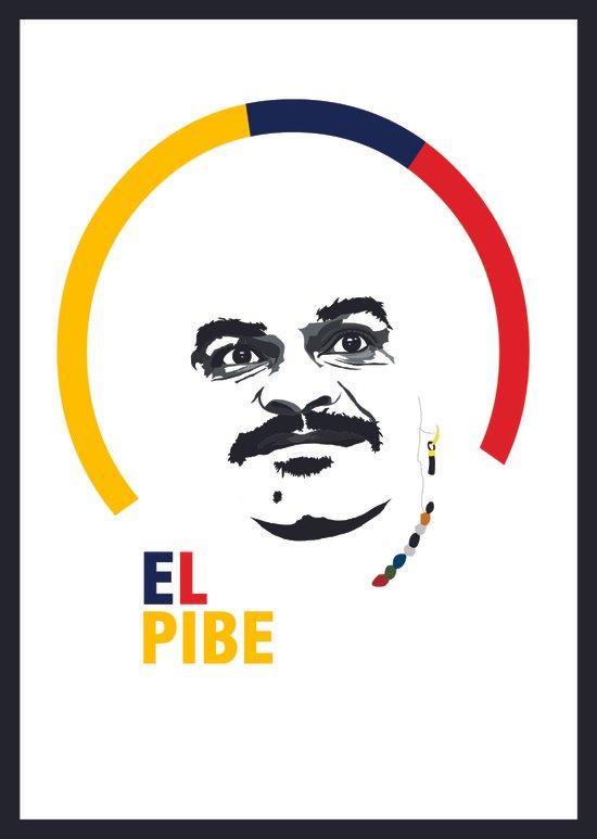 Carlos Valderrama – El Pibe Art Print
