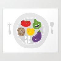 Healthy food. Art Print