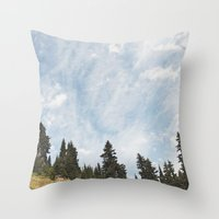 Mountain Flowers In The … Throw Pillow