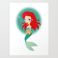 Sweet Mermaid Art Print