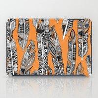 geo feathers orange iPad Case