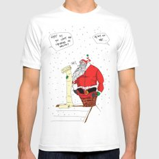 Shitty Christmas White SMALL Mens Fitted Tee