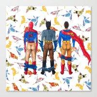 Super Hero BUTTs   It's … Canvas Print