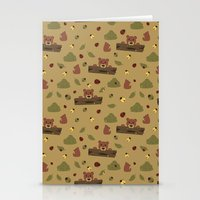 Bears And Beetles  Stationery Cards