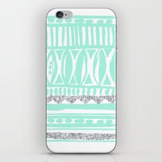 mint tribal & glitter iPhone & iPod Skin