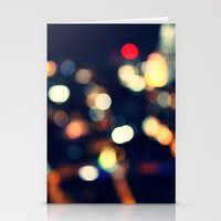 lights Stationery Cards featuring Lights  by sasan p