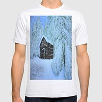 Let It Snow  Mens Fitted Tee Ash Grey SMALL