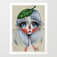Elfling Study :: Leaf head Art Print