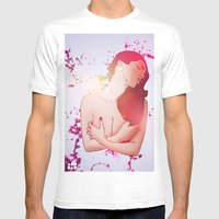 Crimson Beauty Mens Fitted Tee White SMALL