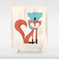 Fox & Koala Shower Curtain