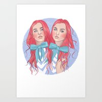 Follow the White Rabbit - Tweedles Art Print