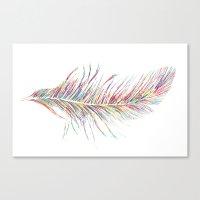 Rainbow Feather  Canvas Print