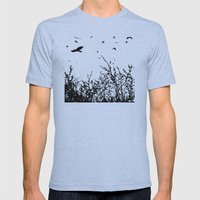 Flock Of Birds Mens Fitted Tee Athletic Blue SMALL