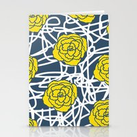 YELLOW ROSE SQUIGGLE Stationery Cards