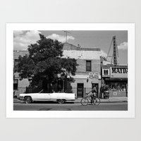 Man On A Bike Art Print