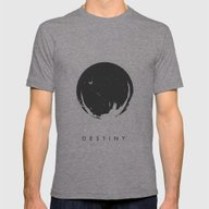 It Awaits - Destiny Post… Mens Fitted Tee Tri-Grey SMALL