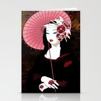Mona Geisha Lisa Stationery Cards