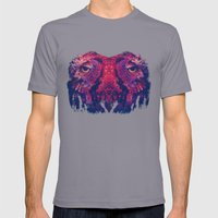 Face to face, owl to owl Mens Fitted Tee Slate SMALL