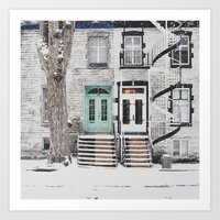 Snow In Montreal Art Print