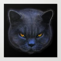 Funny Cross Cat! Canvas Print