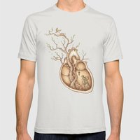 Tree of Life Mens Fitted Tee Silver SMALL