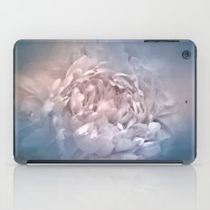 Blushing Blue and Cream Peony - Floral iPad Case