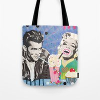 Marilyn vs James D Tote Bag
