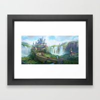 epic fantasy castle  Framed Art Print