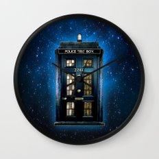 Tardis doctor who Mashup with sherlock holmes 221b door Wall Clock