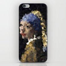 Pixelated Girl with a Pearl Earring iPhone & iPod Skin