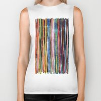 fancy stripes 1 Biker Tank