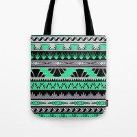 Art Deco Stripes - Green… Tote Bag
