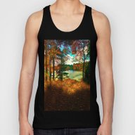 Trees And Shadows In New… Unisex Tank Top