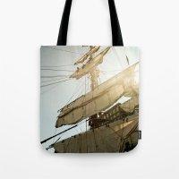 Tall Ship In Boston Harb… Tote Bag