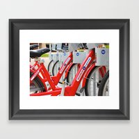 Madison Bicycles Framed Art Print